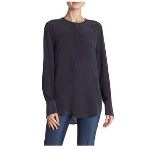 Equipment femme Mabel navy blouse NWT l